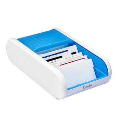 Visitenkartenbox Linear H6218030 300Karten blue lagoon