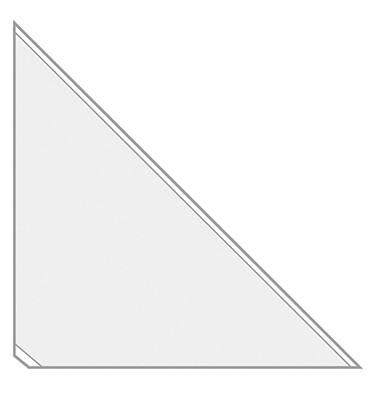 Dreiecktaschen VELOCOLL 2217000 17x17cm sk gk 8 St./Pack.