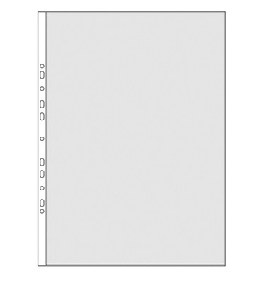 Prospekthüllen Klarsichthüllen Klarsichtfolien PP 40my glasklar glatt oben offen