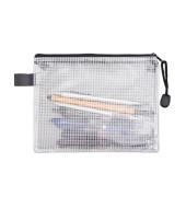 Reißverschlusstasche PVC transparent 0,03mm A5 schwarz/transparent