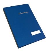 Unterschriftenmappe 1491 A4 Leinen blau mit Einsteckschild 20 Fächer