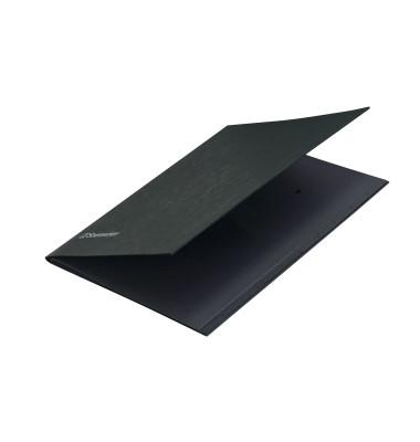 Unterschriftenmappe Slim 1495 A4 390g Karton schwarz 10 Fächer