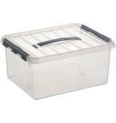 Aufbewahrungsbox Q-line H6162602 15l Deckel Tragegriff tr