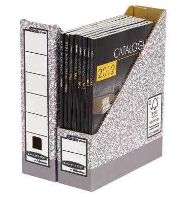 Stehsammler 0186004 DIN A4 Archiv grau/weiß