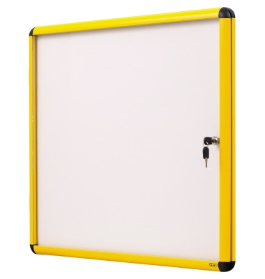 Schaukasten Enclore Ultrabrite gelb 20 x A4 Metallrückwand weiß magnetisch