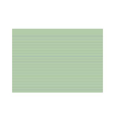 Karteikarten 10848S A5 liniert 205g grün 100 Stück