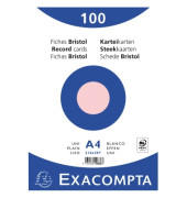 Karteikarten 10336E A4 blanko 205g rosa 100 Stück