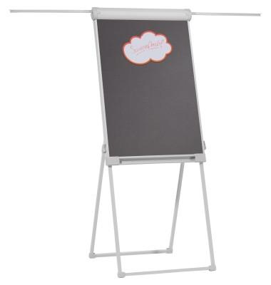 Moderationstafel Deluxe FC8312, 67x95cm, Filz (einseitig), pinnbar, klappbar, grau