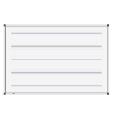 Notenlinien-Whiteboard Premium 120 x 90cm lackiert Aluminiumrahmen