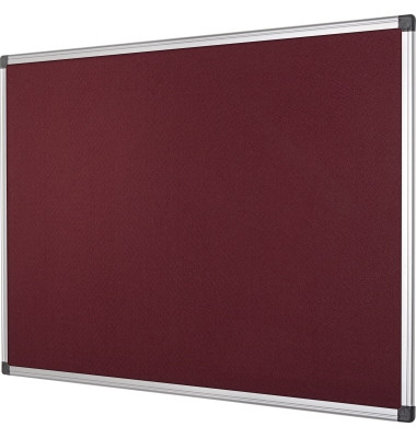 Pinnwand SA2105170, 240x120cm, Filz, Aluminiumrahmen, rot