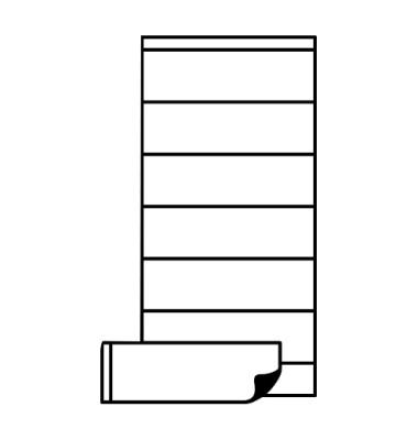 Etikettenhalter 10810 mag. 25x75mm 6 Stück