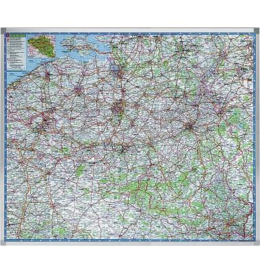 Straßenkarte Professional Belgien 1:250000 121x101cm magnetisch