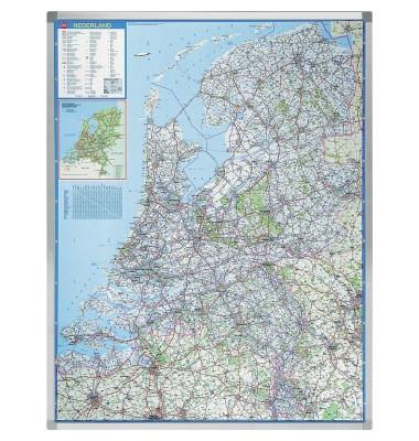 Straßenkarte Professional Niederlande 1:250000 101x130cm magnetisch