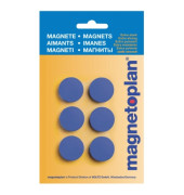 Magnet Discofix Hobby 16645614 25mm d.blau 6 St./Pack