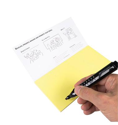 Moderationskarte Notes M 20x10cm selbsthaftend Kunststoff gelb 95 Stück