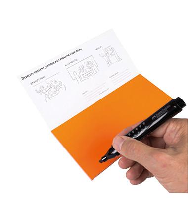 Moderationskarte Notes M 20x10cm selbsthaftend Kunststoff orange 95 Stück