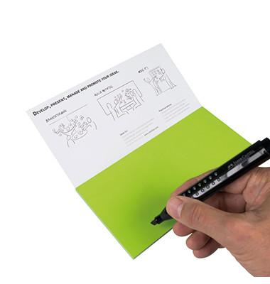 Moderationskarte Notes M 20x10cm selbsthaftend 95Blatt PP grün