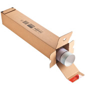 Versandhülse CP072.04 108x108x610 mm Wellpappe braun