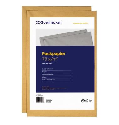 Packpapier 3560 braun 75x100cm 2 Bögen