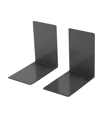 Buchstütze 14x9x14cm L-Form Metall schwarz 2 St./Pack.