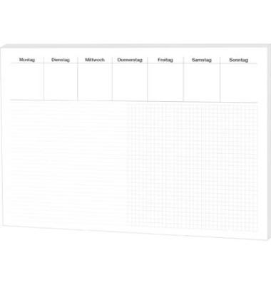 Schreibunterlage Office 46632 mit Wochenplaner Liniert&Kariert 48x33cm Papier 30 Blatt