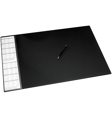 Schreibunterlage 68x44cm Seitentasche abwaschbar schwarz