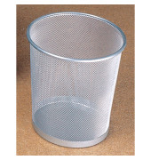 Papierkorb Mesh H2518500 26,5x28cm 15l rund Metall silber