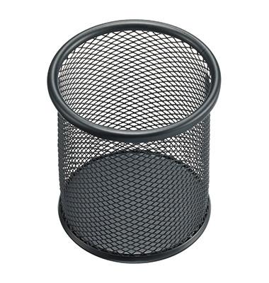 Stifteköcher Mesh H2518195 9x10cm rund 1Fach Metall schwarz