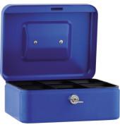Geldkassette 20x9x16cm 6Fächer blau