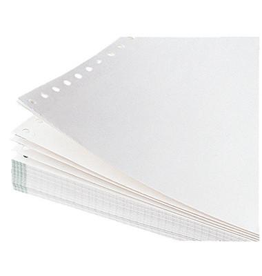 Endlospapier 5919, A4 hoch blanko, 3-fach, 12 Zoll x 240 mm, 500 Sätze