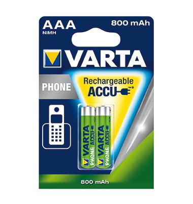 Akku Phone Accu 58398101402 AAA Micro T398 800mAh 2 St./Pack.