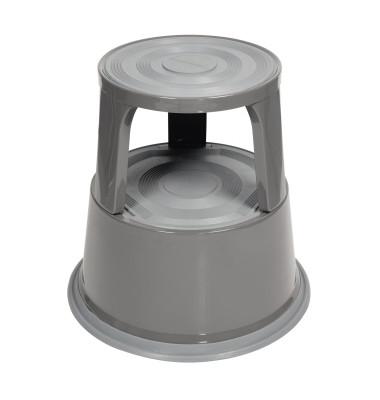 Rollhocker 3612 mit 3Gleitrollen grau
