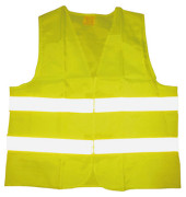 Warnweste EN ISO 20471 Polyester gelb