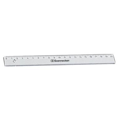 Lineal 1820 20cm Kunststoff transparent
