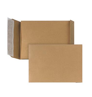 Faltentasche C5 ohne Fenster 30mm Falte haftklebend 110g braun