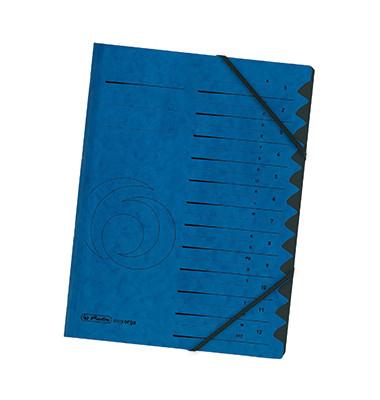 Ordnungsmappe 12Tlg.Blau