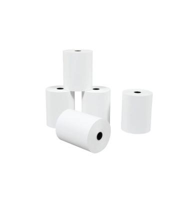 Thermorollen 57mm x 9m Kern-Ø 12mm weiß 5 Stück