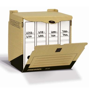 Sammelbehälter f.4x A4 Ordner braun 33x31x34cm 10 St