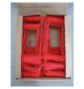 Abheftbügel 221 2-teilig Metall rot kunststoffummantelt Füllhöhe bis 120 mm 100 Stück
