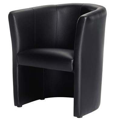 Echtleder Sessel schwarz 800000090