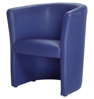 Kunstleder Sessel dunklelblau 800000153