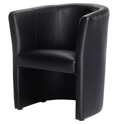 Kunstleder Sessel schwarz 800000170