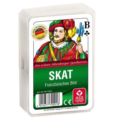 22570001 Pl. Etui Spielkarten Skat Club franz.