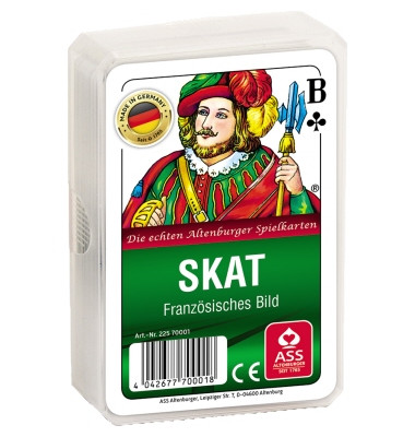 Spielkarten Skat Club französisches Blatt Kunststoffetui