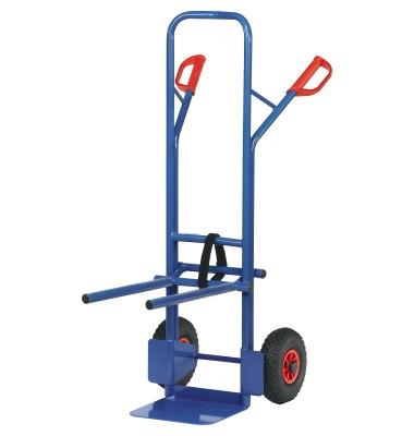 Transportkarre für Stühle B1335L tragfähig bis 300kg blau 32x25cm Stahl