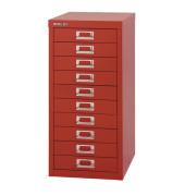 Schubladenschrank MultiDrawer™ 29er Serie L2910870, Stahl, 10 Schubladen (Vollauszug), A4, 27,9 x 59 x 38 cm, rot