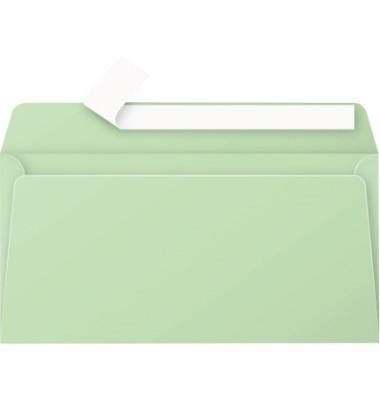 Designbriefumschläge Din Lang Pollen ohne Fenster haftklebend 120g grün 20 Stück