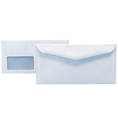 Kuvertierhüllen 2902 C6/5 mit Fenster nassklebend weiß 1000 Stück