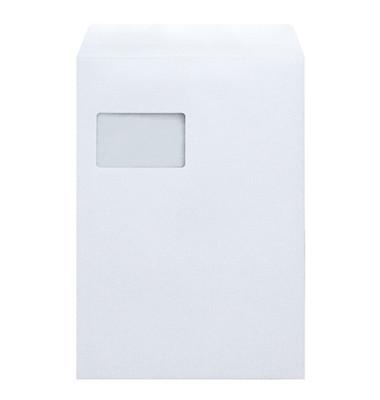 Versandtaschen 2081 C4 mit Fenster haftklebend 100g weiß 250 Stück