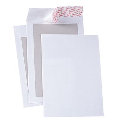Versandtaschen 2918 C5 ohne Fenster mit Papprückwand haftklebend 120g weiß 200 Stück